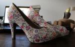 Blumige Schuhe