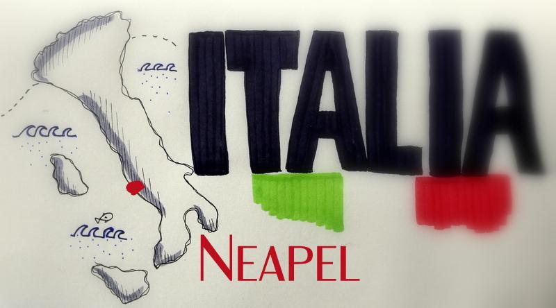 neapel, italiennovember, landkarte